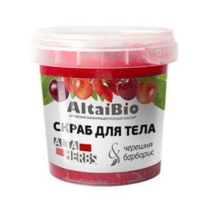Алтайбио Скраб для тела черешня-барбарис